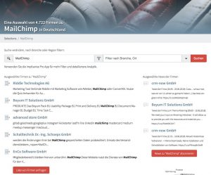 Find Mailchimp users for free