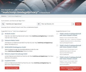 "Search for mailchimp users with ""mailchimp.com∕legal∕privacy"""